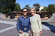 Taylor Lancaster receives a Congressional Award for his trek from Congress member Lois Capps