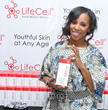 June Ambrose Visits the LifeCell Booth at GBK and Pilot Pen's Gift Lounge