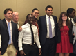 The Youth Delegation at the Harvard Club with UN Youth Envoy Ahmad Alhendawi