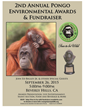 Poster for 2nd Annuall Pongo Environmental Awards and Fundraiser