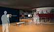 Violins of Hope exhibition rendering courtesy of Gallagher & Associates and the Maltz Museum of Jewish Heritage