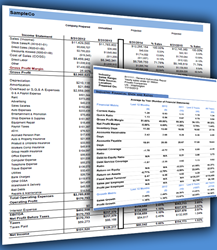 Examples of Brad Beckstead's financial projects utilizing industry-specific data.