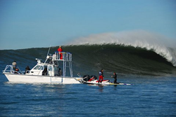 Twin Vee boats are used to film Pro Surfers and offer support missions where stability and reliability are required.