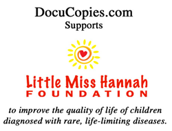 DocuCopies.com Donates $1K to the Little Miss Hannah Foundation