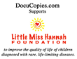 DocuCopies.com Donates $1K and Features LittleMissHannah.org in Their Charity Spotlight
