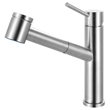 Franke Steel Kitchen Faucet with Pull-Out Spray