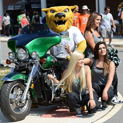 Wilmington University Wildcat Mascot and members of 2014 dance team