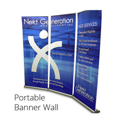 Retractable Portable Banner Wall
