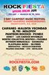 Rock Fiesta schedule poster