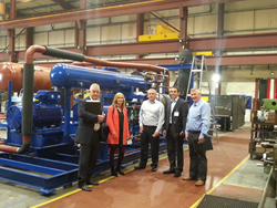 VIBES Awards judges visit Star Refrigeration's Glasgow factory to see a heat pump in action