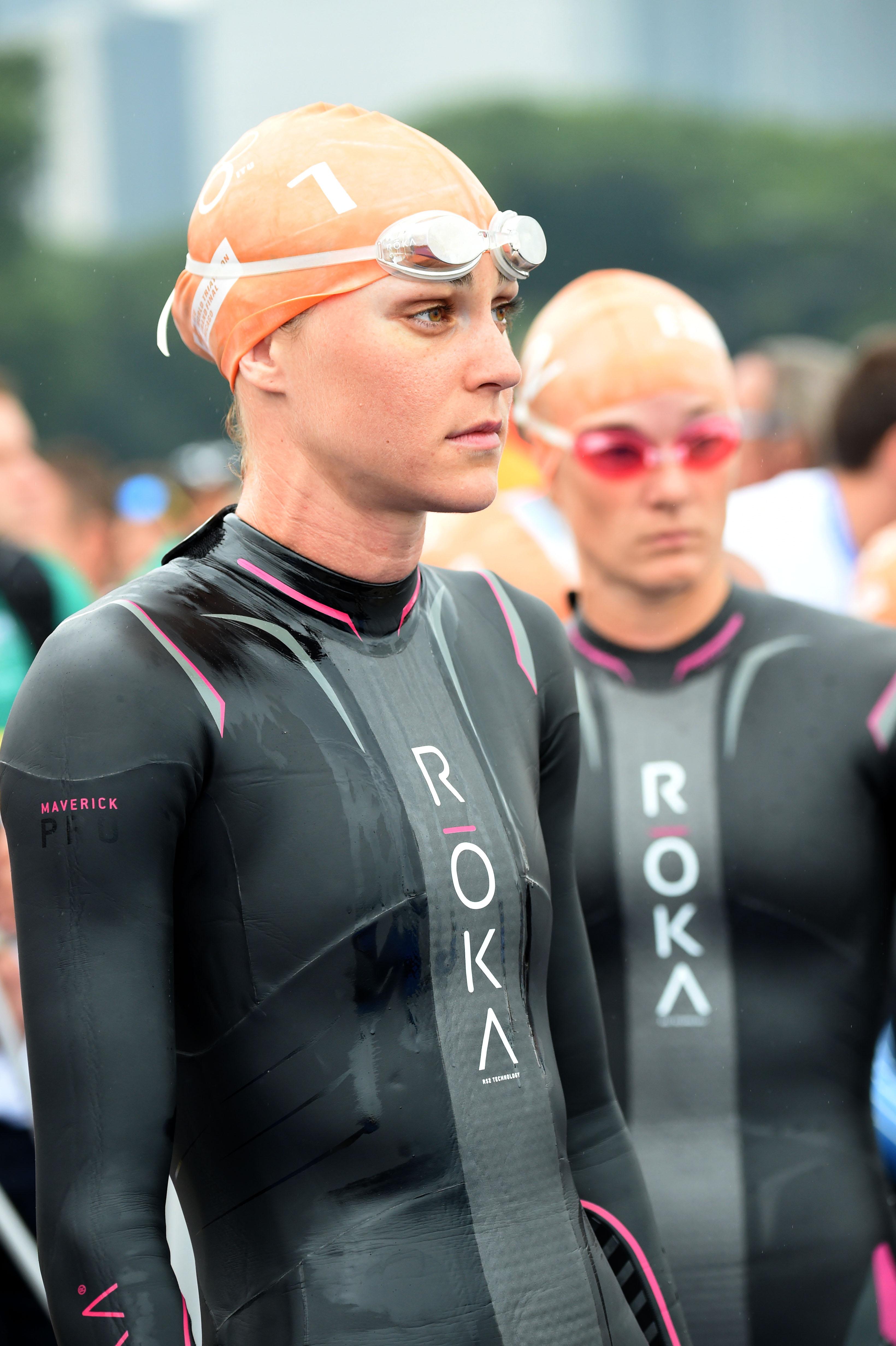 Gwen Jorgensen Swimming