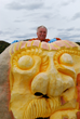 Master Pumpkin Carver Ed Moody at Frankfort Fall Festival
