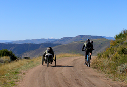 Two cyclists at the Adventure Team Challenge in Colorado.