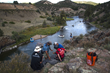 The high zip line across the Colorado River at the Adventure Team Challenge.