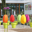 Original Tulip Shaped Outdoor Seating Wins Golden Design Award from Italy
