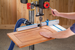 New Rockler Drill Press Fence Features Angled Dust Port For Greater Clearance