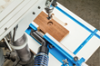 Rockler's new Drill Press Fence allows easier setups and maneuverability on the table surface.