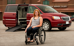 Chrysler Town & Country wheelchair van.