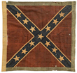 The unique Army of Northern Virginia Battle Flag of Confederate Marines under Robert E. Lee. It was captured at the Battle of Sailor's Creek.