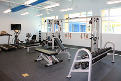 The fitness center at Goodwill Manasota's corporate campus in Bradenton