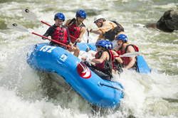 Rafting at the U.S. National Whitewater Center.