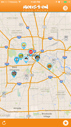 Houston Food Trucks realtime map.