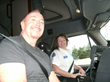 CRASH safety advocate takes his first ride in a tractor-trailer at the invitation of Women In Trucking Association
