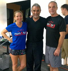 Julia and Patrick with Dr. Nicholas S. Romanov, creator of Pose Running Method