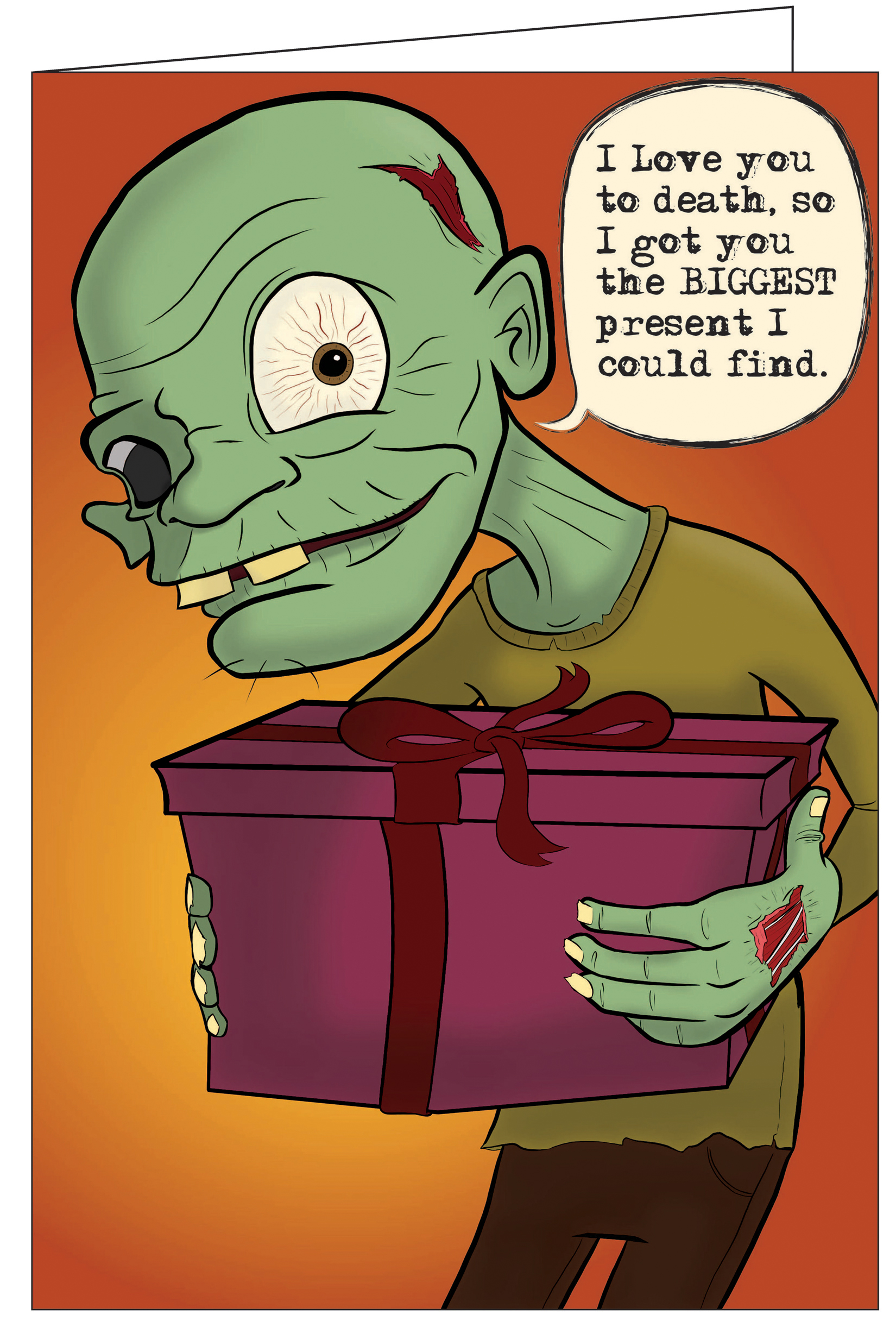 Giant really big greeting cards published in st louis mo zombie love really big greeting card165 x 245 donkey happy birthday kristyandbryce Choice Image