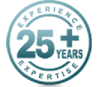 25 years of experience and expertise