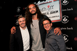 @properties co-founder Michael Golden, Joakim Noah, @properties co-founder Thaddeus Wong