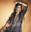 Indo-American Fashion Brand Pure Elegance Ties Knot with Amrapali Jewels