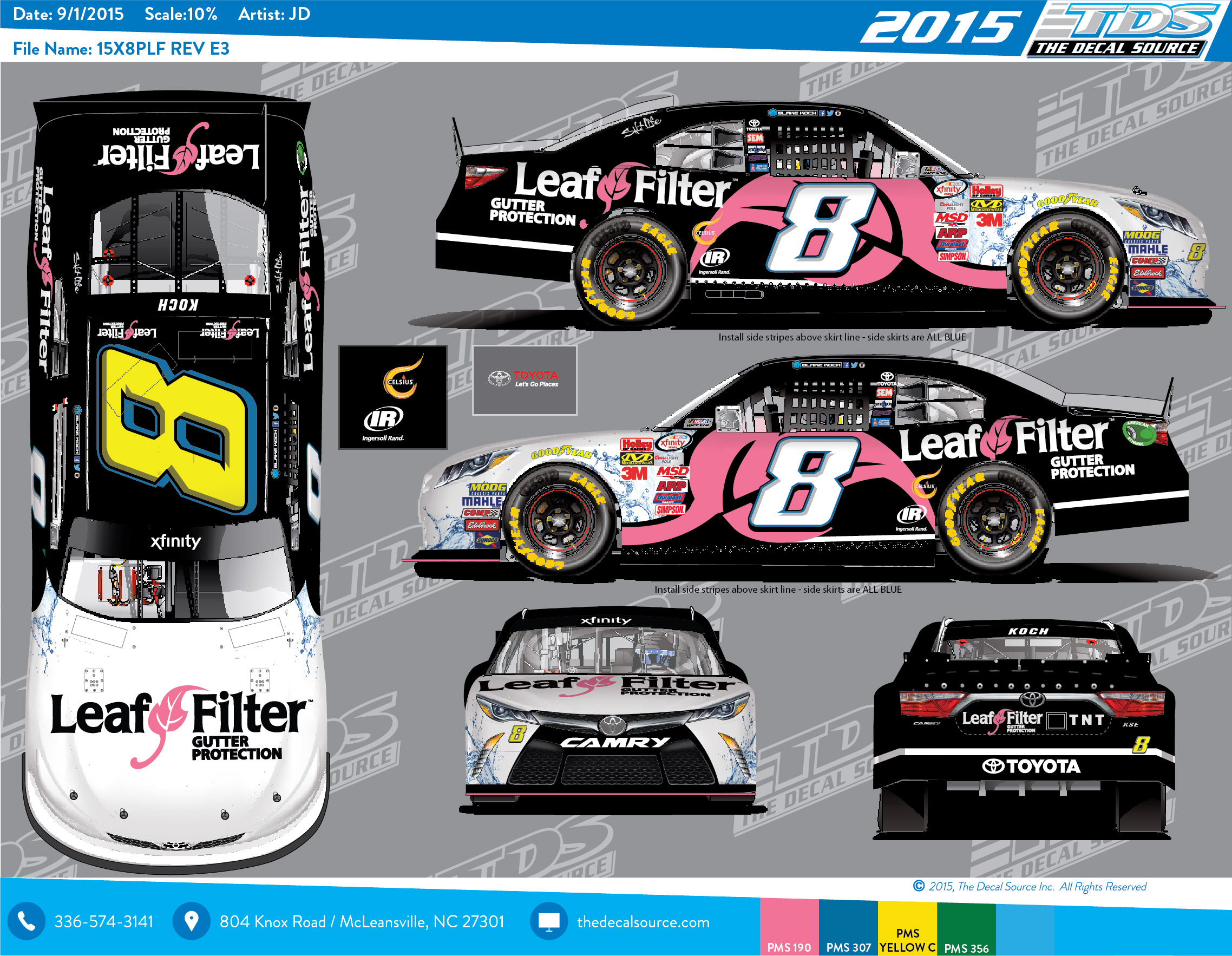 Leaffilter supports breast cancer awareness month at the for Koch xfinity driver