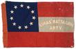 "CONFEDERATE 1ST NATIONAL BATTLE FLAG OF THE 15TH SOUTH CAROLINA HEAVY ARTILLERY BATTALION ""LUCAS ARTILLERY""."
