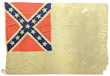 FINE AND HISTORIC CONFEDERATE 2ND NATIONAL NAVAL FLAG CAPTURED BY THE 121ST NEW YORK INFANTRY DURING THE CIVIL WAR.