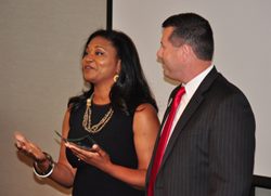 Mike Levin and Tia Buckham-White at the 2015 TAG Diversity Leadership Awards