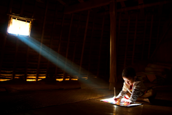 "Handi Laksono's ""Studying"" has won the SPIE IYL Photo Contest People's Choice Award."
