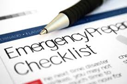 Make and emergency checklist