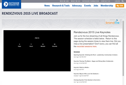 OIA Rendezvous 2015 Live Broadcast screen shot
