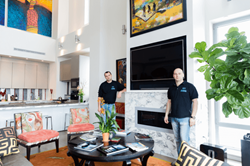 DTV Instalalers (John and Sean) after Samart Home Automation project was done in Manhattan, New York