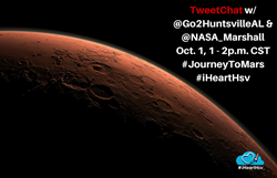 Join the Huntsville CVB and NASA Marshall Space Flight Center for a TweetChat on the real life journey to Mars