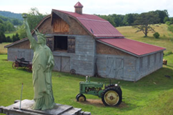 Barn, Lady Liberty, John Deere A