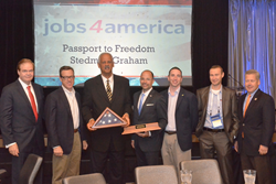 Stedman Graham receives the Spirit of America Award from jobs4america and PACE