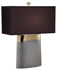 Currey & Company Moonrise Noir Lamp with Sleek Bronze and Matte Graphite Finish