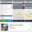 View of Alliance Limo's new mobile app.