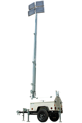 30' Telescoping Light Mast Equipped with Two Manual Winches