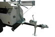 2,000 LB. Leaf Spring Axle Trailer that provides Mobility for the 30' Light Boom