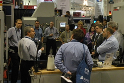 Demonstrations of the latest technology for optical manufacturing draw crowds to the SPIE Optifab exhibition.