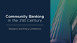 Federal Reserve and CSBS Release 2015 Community Banking Report