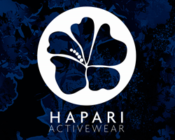 Hapari active wear logo
